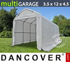 Capannone tenda multiGarage 3,5x12x3,5x4,5m, Bianco