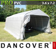 Capannone tenda PRO 3,6x7,2x2,68m PVC, Grigio