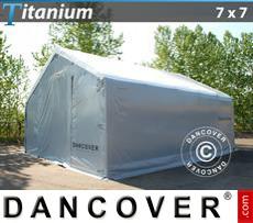 Capannone tenda Titanium 7x7x2,5x4,2m, Bianco / Grigio
