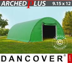 Capannone tenda 9,15x12x4,5m PVC, Verde