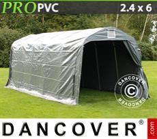 Capannone tenda PRO 2,4x6x2,34m PVC, Grigio