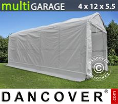 Capannone tenda multiGarage 4x12x4,5x5,5m, Bianco