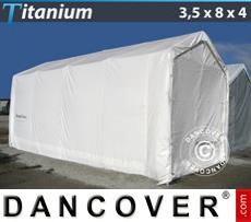 Capannone tenda Titanium 3,5x8x3x4m, Bianco