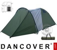 tenda da campeggio, 4 persone, verde/grigio