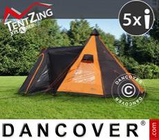 Tenda da campeggio, TentZing® Teepee, 5 persone, Arancione/Grigio Scuro