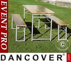Set Tavolo e Panche, 180x60x76cm, Legno chiaro