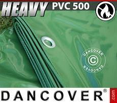 Telo 10x12m PVC 500 g/m² Verde, Ignifugo