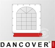 Fianco finestrato per tendone Exclusive, Bianco / rosso