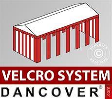 Copertura del tetto in Velcro per il tendone Exclusive 6x12m, Bianco / rosso