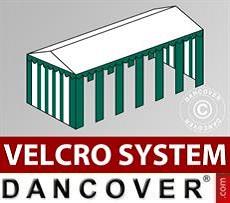 Copertura del tetto in Velcro per il tendone Exclusive 6x12m, Bianco / verde