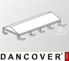 Copertura del tetto per il Tendone per feste Original 4x8m PVC, Bianco / Grigio