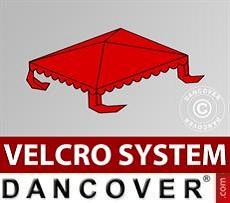Copertura per il tetto del Tendone per Feste UNICO, PVC/Poliestere, 3x3m, Rosso…