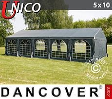 Tendoni Gazebi Party UNICO 5x10m, Grigio scuro