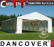 Tendoni Gazebi Party   SEMI PRO Plus CombiTents® 8x12 (2,6)m 4 in 1, Bianco