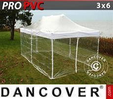 Tendoni Gazebi Party  PRO 3x6m Trasparente, inclusi 6 fianchi