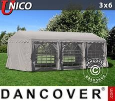 Tendoni Gazebi Party PRO 3x6m Rosso, incl. 6 tendaggi decorativi