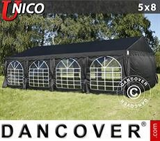 Tendoni Gazebi Party UNICO 5x8m, Nero