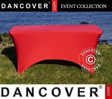 Copri-tavolo elasticizzato, 150x72x74cm, Rosso