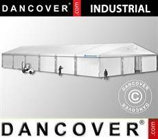 Magazzino Industriale 15x30x6,53m con portone scorrevole, PVC, Bianco