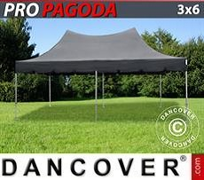 FleXtents Gazebi per Feste PRO Peak Pagoda 3x6m Nero, incluso 6 pareti…