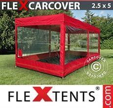 Tenda per racing Carcover, 2,5x5m, Rosso