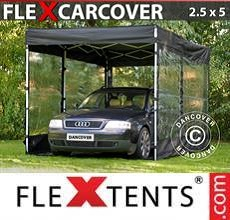 Tenda per racing Carcover, 2,5x5m, Nero