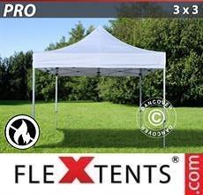 Tenda per racing PRO 3x3m Bianco, Ignifugo