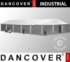 Magazzino Industriale 12x25x5,92m con portone scorrevole, PVC/Metallo, Bianco