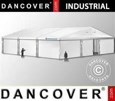 Magazzino Industriale 10x10x4,52m con portone scorrevole, PVC, Bianco