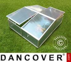 Mini serra a letto caldo 1,19m², 1,08x1,10x0,40m, Alluminio