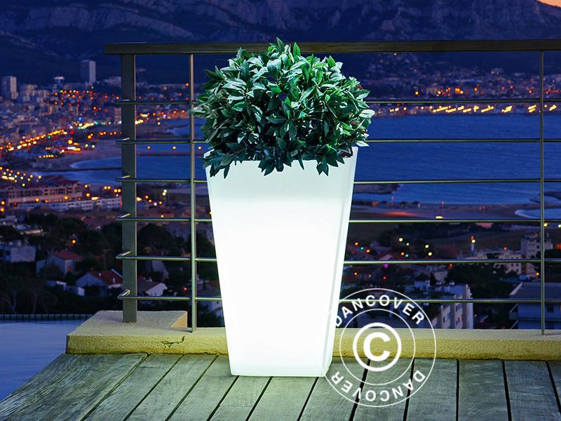 Elegante blomsterpotter med innebygget belysning