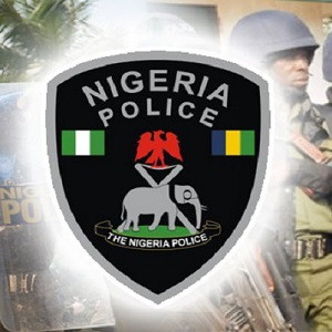 Nigerian police thumb