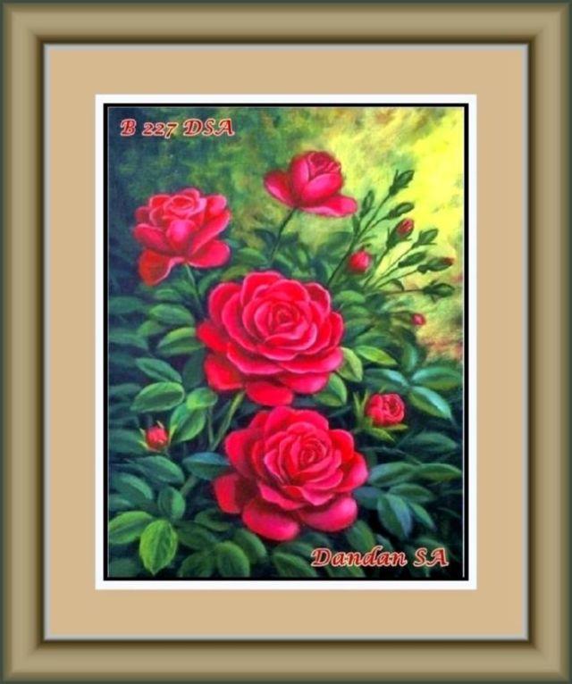 Lukisan Bunga Mawar Sangat Indah  Lukisan  INDONESIA ART