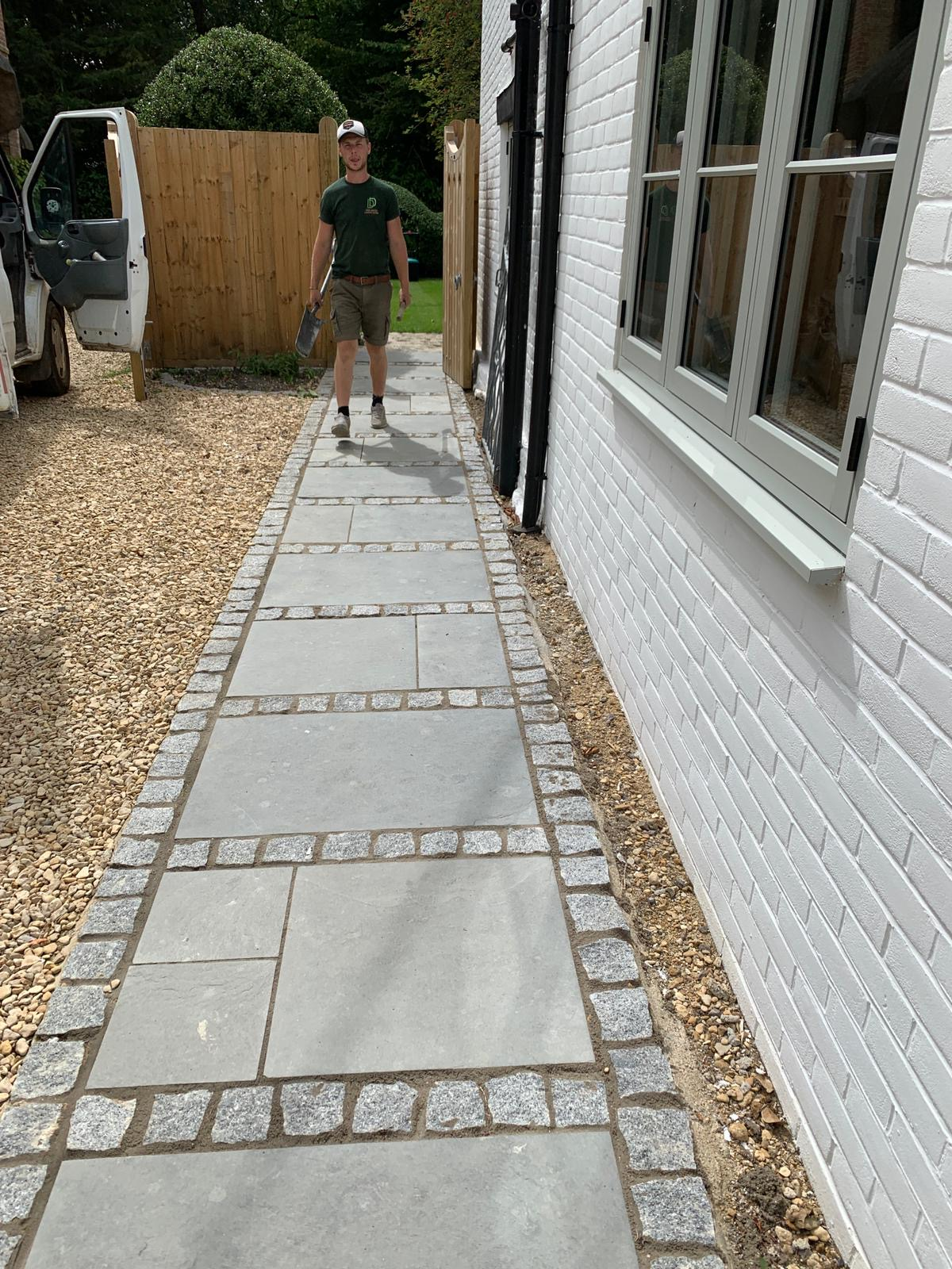 Quirky blockwork path