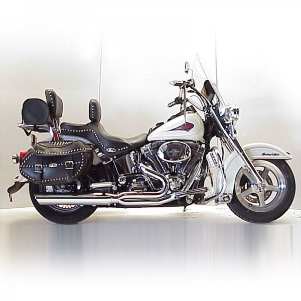 1984 2017 harley heritage softail fat cat 2 1 full exhaust system