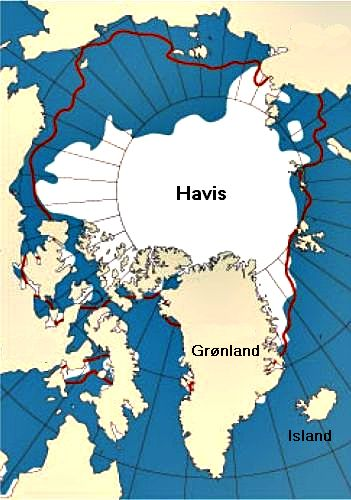 Extension of sea ice