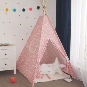 DARE TO DREAM Cort Simplu Mii de stele Roz - cort de joaca montessori