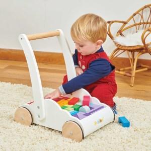Carucior cu blocuri de constructie – Le Toy Van