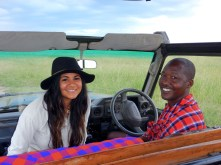 Dominic, our guide and native Masai villager