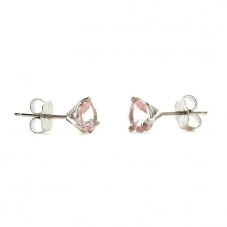 Morganite Stud Earrings • D & H Jewelers