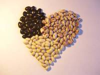 Bean seeds heart