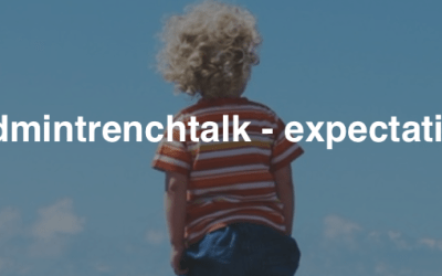 #kidmintrenchtalk – expectation