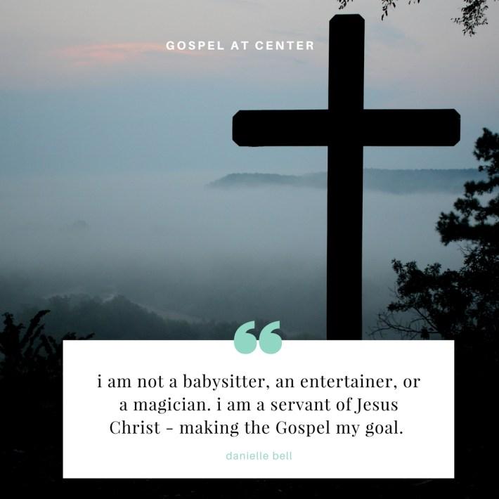 Gospel at center