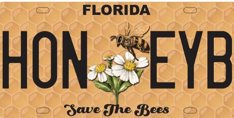 """Order Your """"Save The Bees"""" Florida Specialty License Plate"""