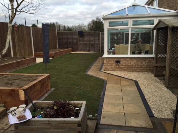 landscaping job with retained