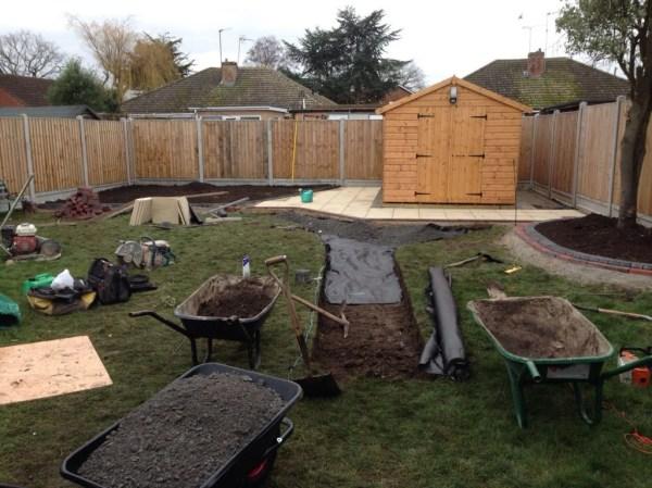 paving & landscaping job