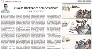 Viva as liberdades democráticas!