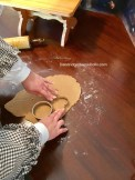Using cookie cutters, cut shapes.