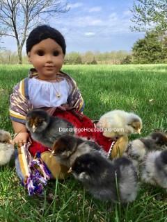 Josefina with spring babies.