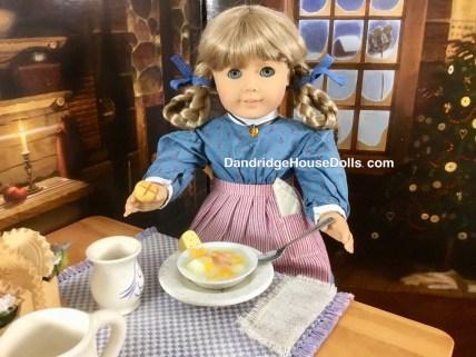 Kirsten is enjoying her potato soup!